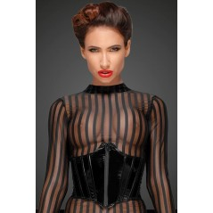 Robe noir et rouge dentelle transparente et lycra tiffany