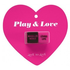 Coffret Secret Couple mauve en silicone - 10 vitesses