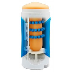 Vibromasseur strié pourpre en silicone - 7 vitesses