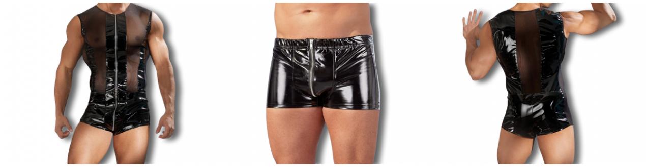 Tenues Sexy Homme Vinyle - Black Level - Meilleur Qualité.